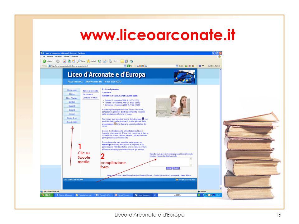 Liceo d Arconate e d Europa