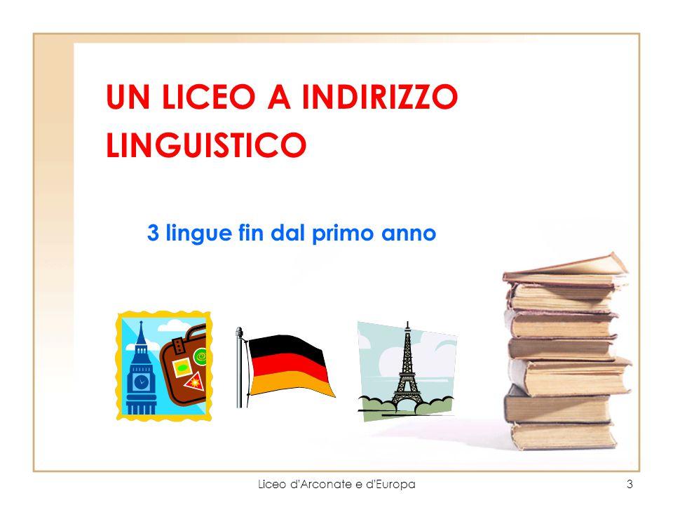 3 lingue fin dal primo anno