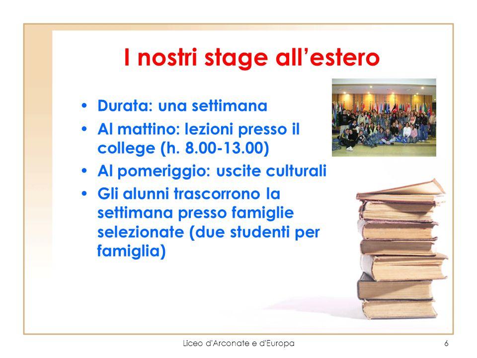 I nostri stage all'estero
