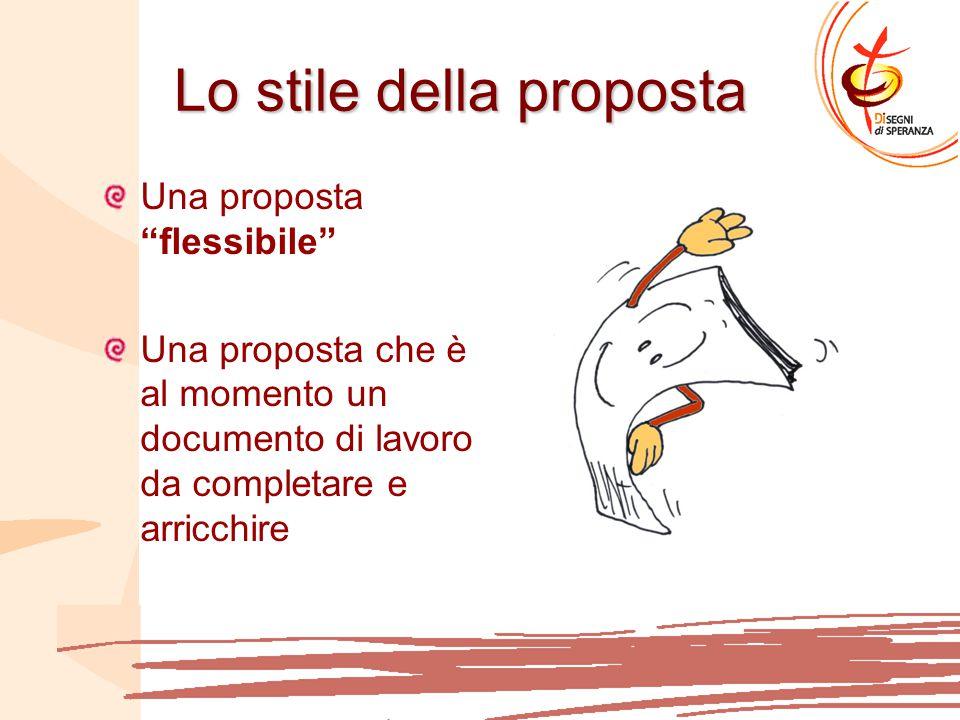 Lo stile della proposta