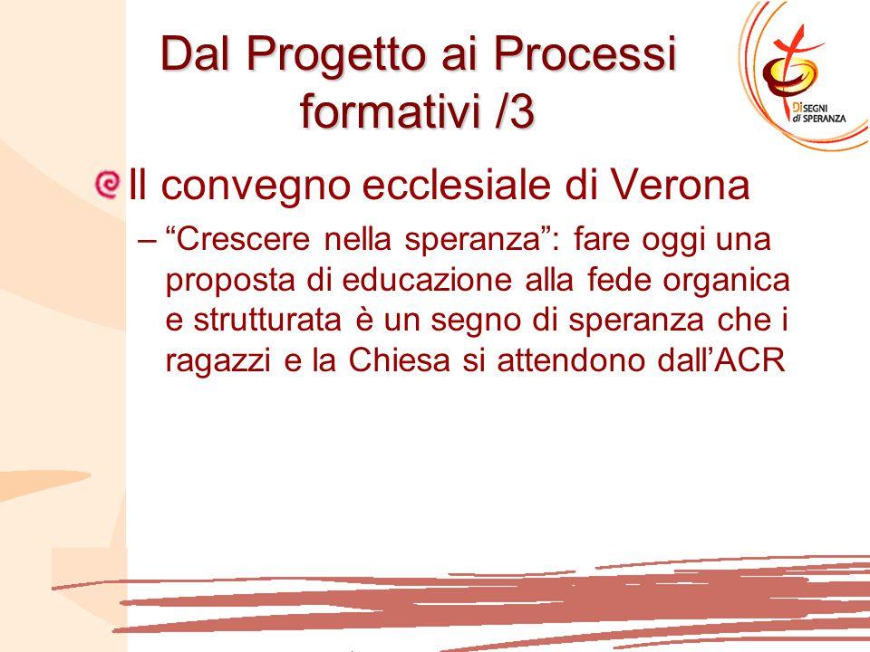 Dal Progetto ai Processi formativi /3