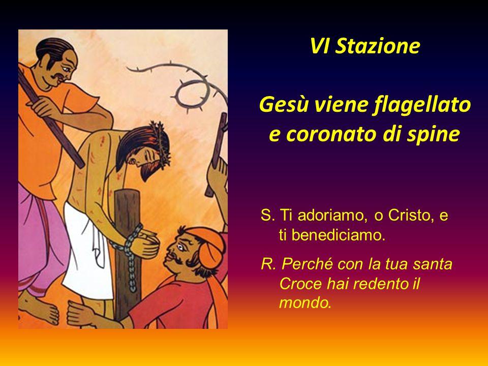VI Stazione Gesù viene flagellato e coronato di spine