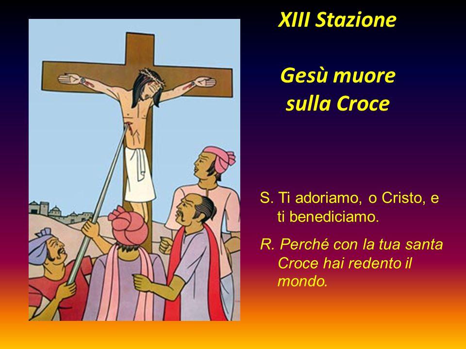XIII Stazione Gesù muore sulla Croce