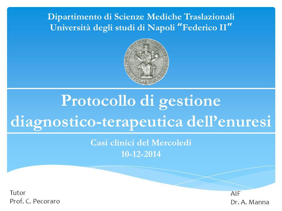Protocollo di gestione diagnostico-terapeutica dell'enuresi