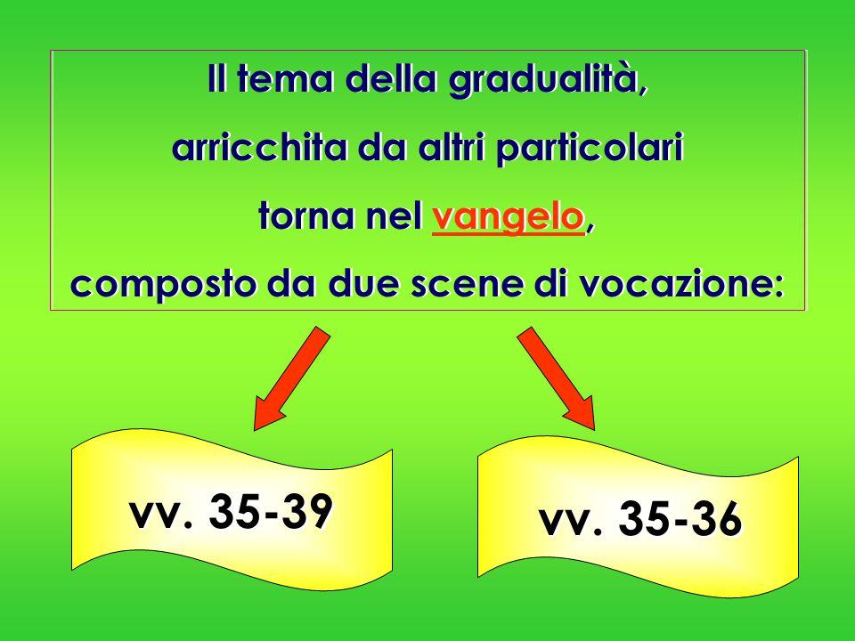 vv. 35-39 vv. 35-36 Il tema della gradualità,