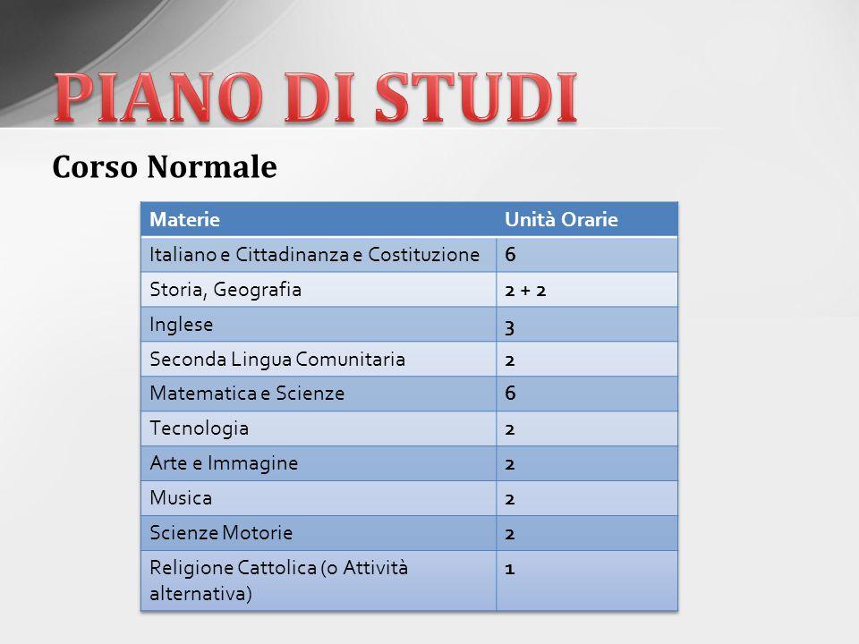 PIANO DI STUDI Corso Normale Materie Unità Orarie