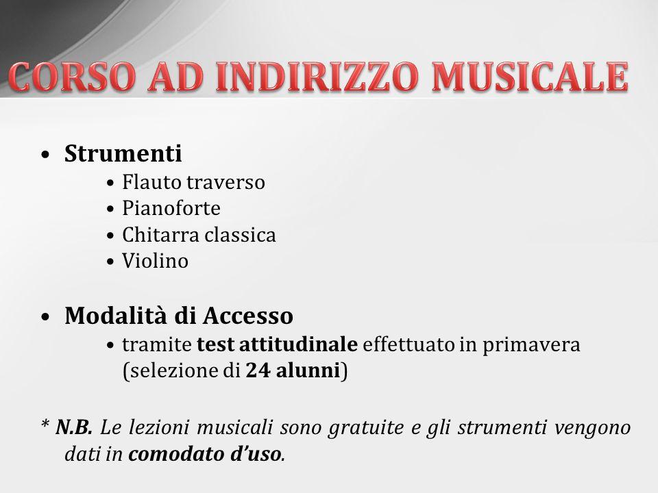 CORSO AD INDIRIZZO MUSICALE