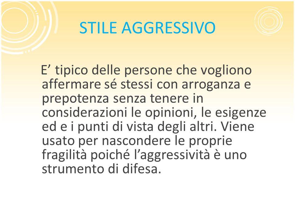 STILE AGGRESSIVO