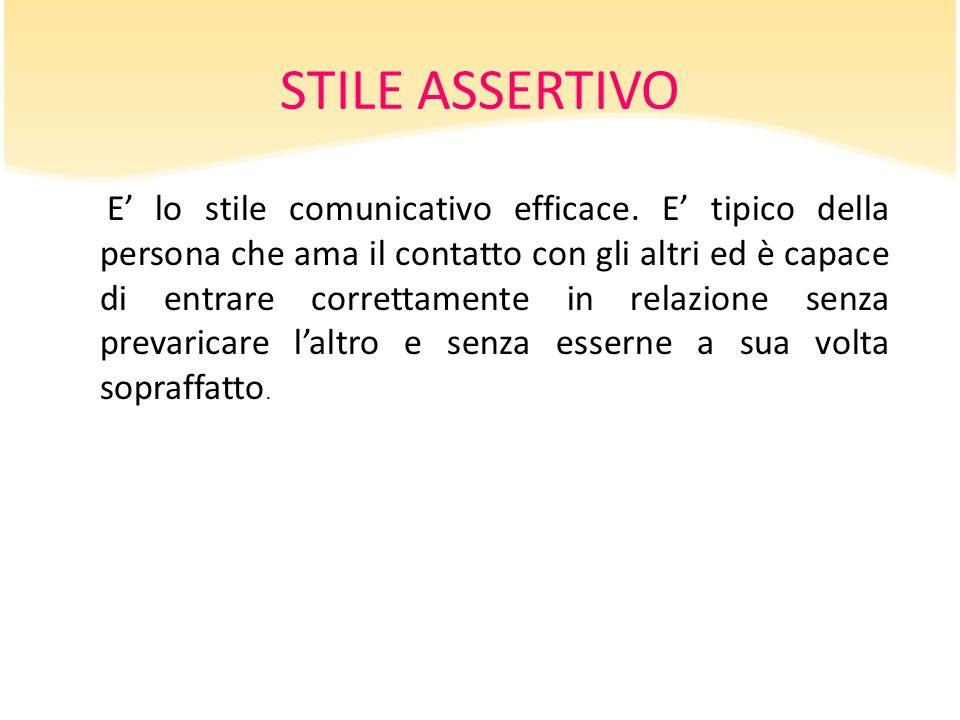 STILE ASSERTIVO