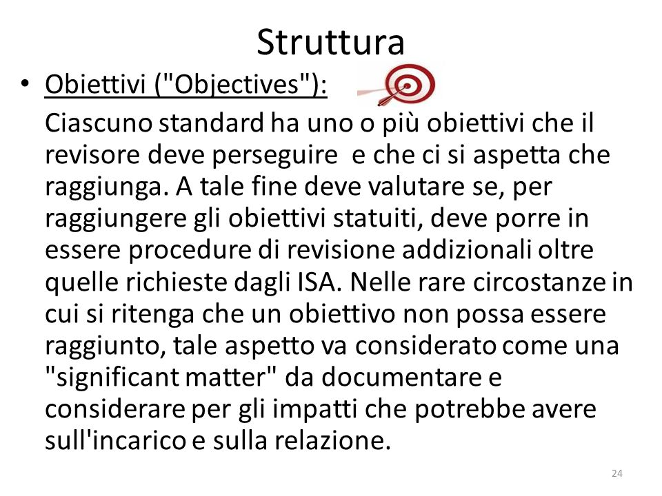 Struttura Obiettivi ( Objectives ):