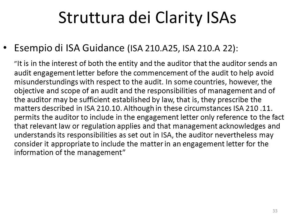 Struttura dei Clarity ISAs