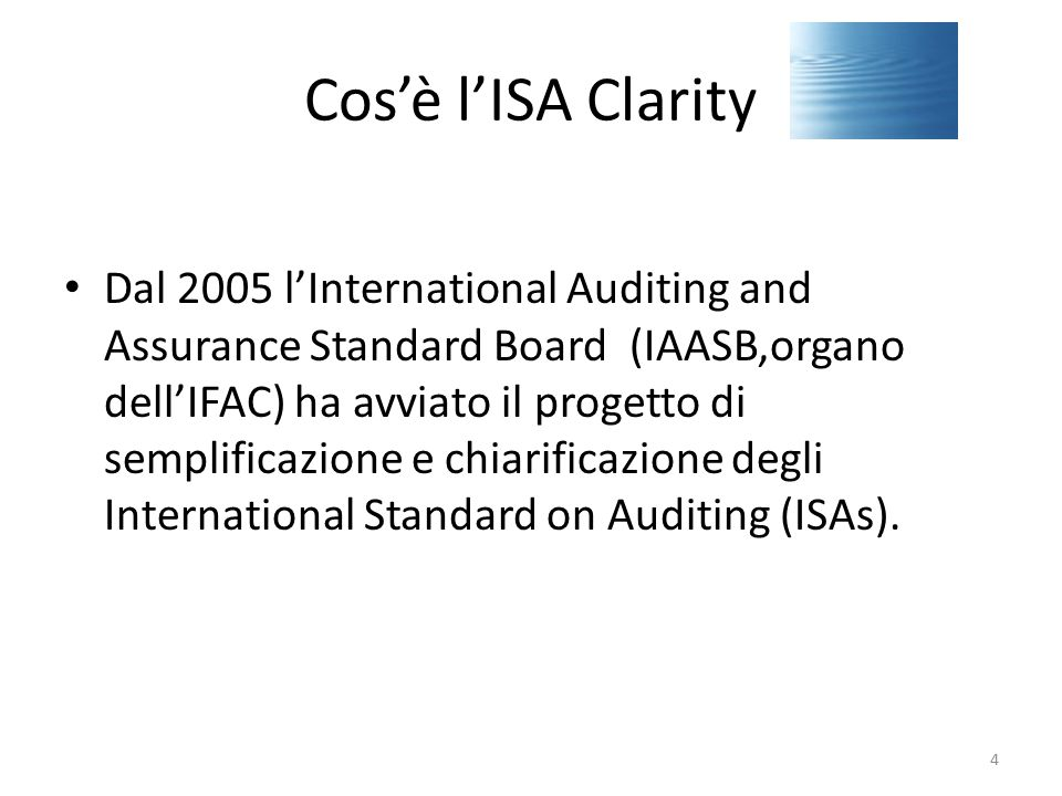 Cos'è l'ISA Clarity