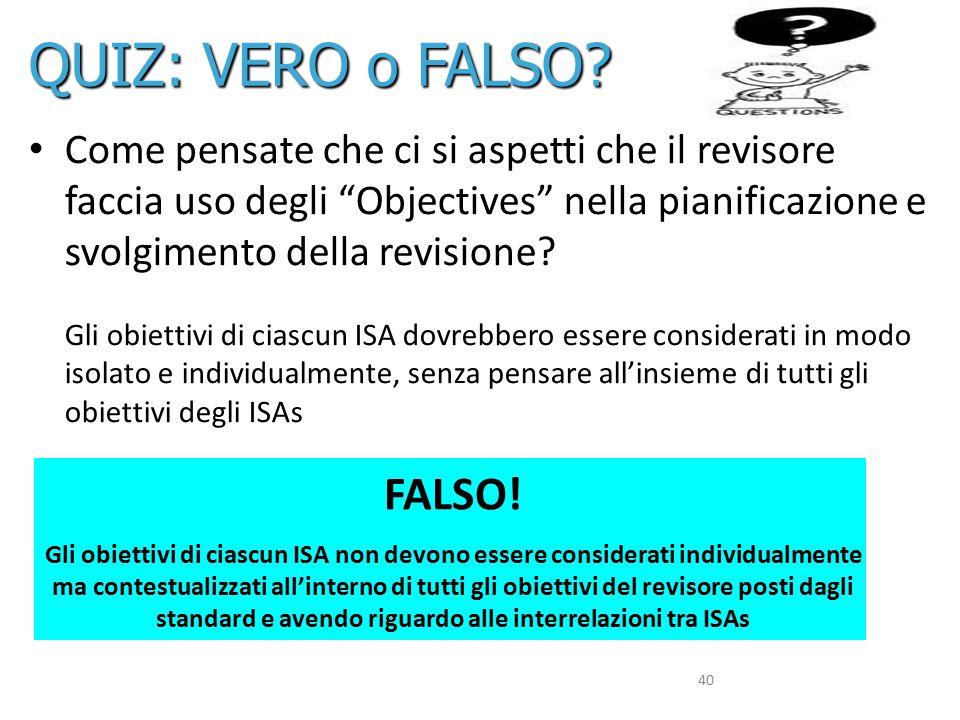 QUIZ: VERO o FALSO FALSO!