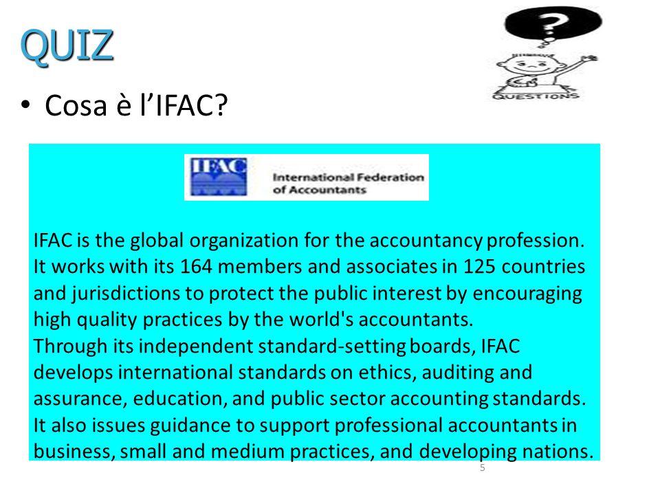 QUIZ Cosa è l'IFAC