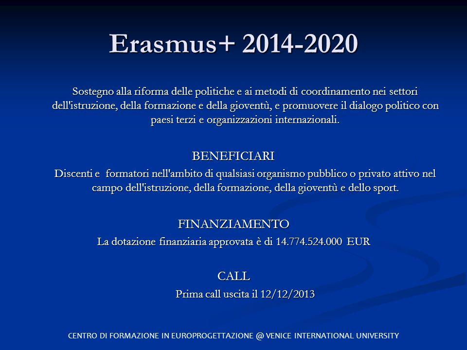 La dotazione finanziaria approvata è di 14.774.524.000 EUR