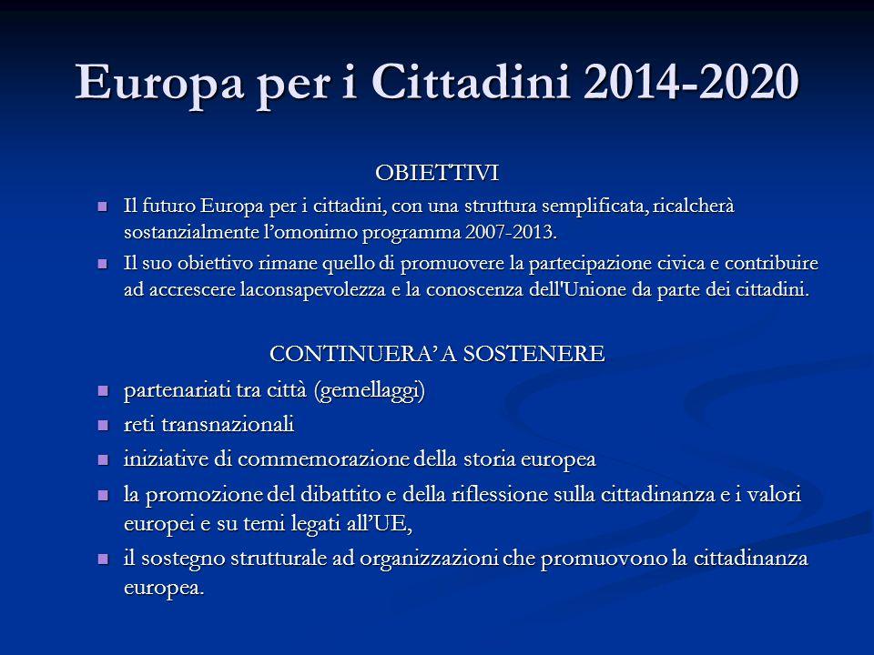 Europa per i Cittadini 2014-2020