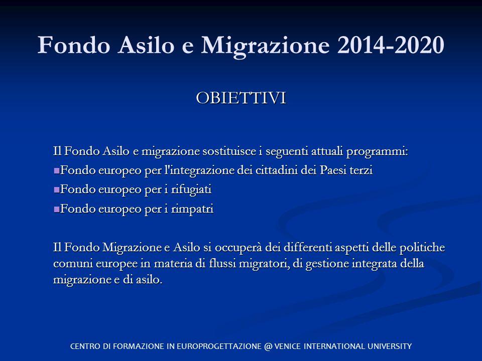 Fondo Asilo e Migrazione 2014-2020