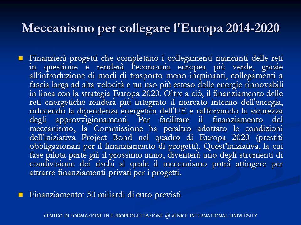 Meccanismo per collegare l Europa 2014-2020