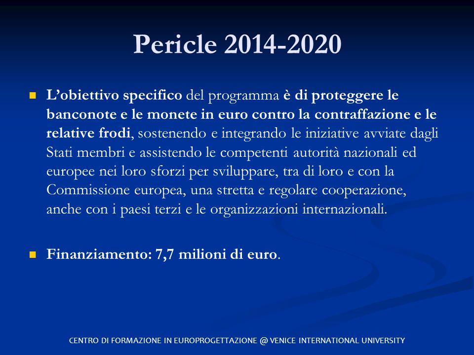 Pericle 2014-2020
