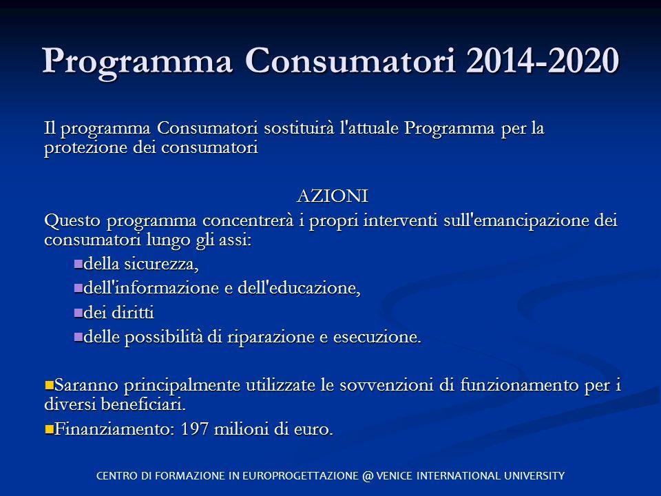 Programma Consumatori 2014-2020