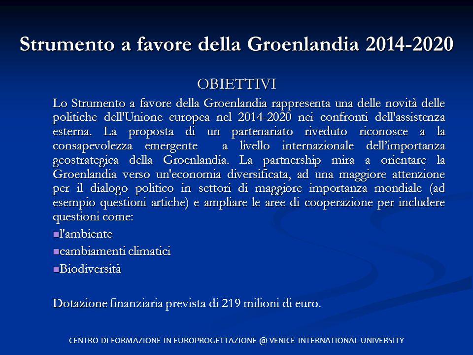 Strumento a favore della Groenlandia 2014-2020