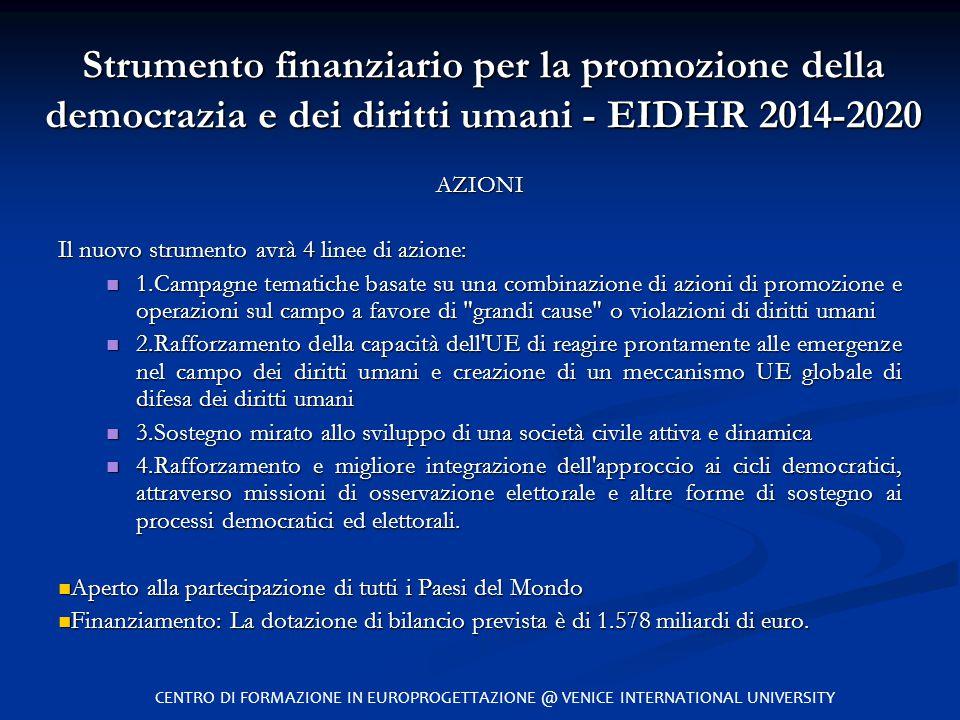 Strumento finanziario per la promozione della democrazia e dei diritti umani - EIDHR 2014-2020