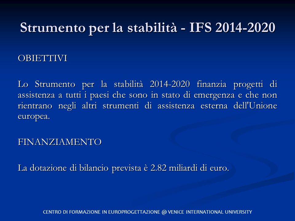 Strumento per la stabilità - IFS 2014-2020