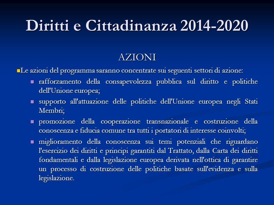 Diritti e Cittadinanza 2014-2020