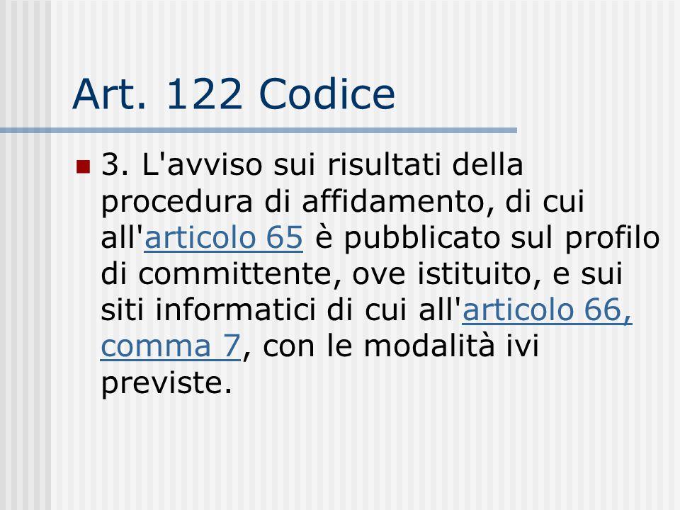 Art. 122 Codice
