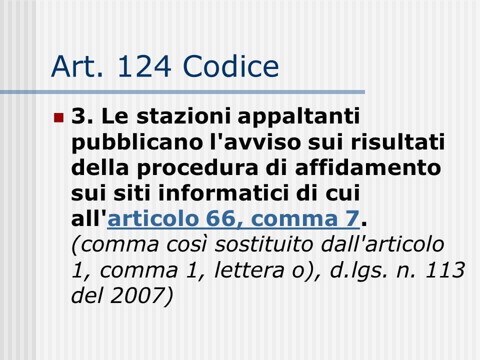 Art. 124 Codice