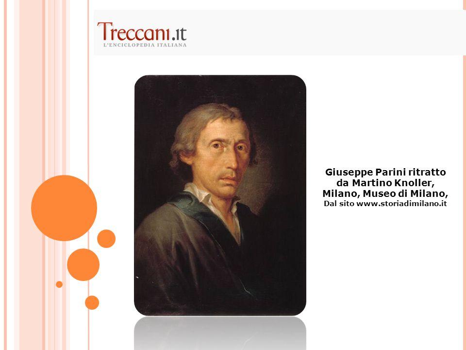 Giuseppe Parini ritratto da Martino Knoller, Milano, Museo di Milano,