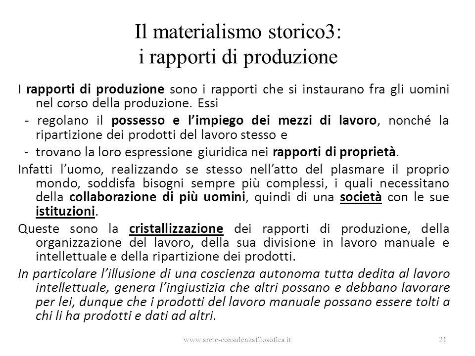 Il materialismo storico3: i rapporti di produzione