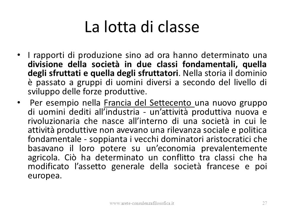La lotta di classe