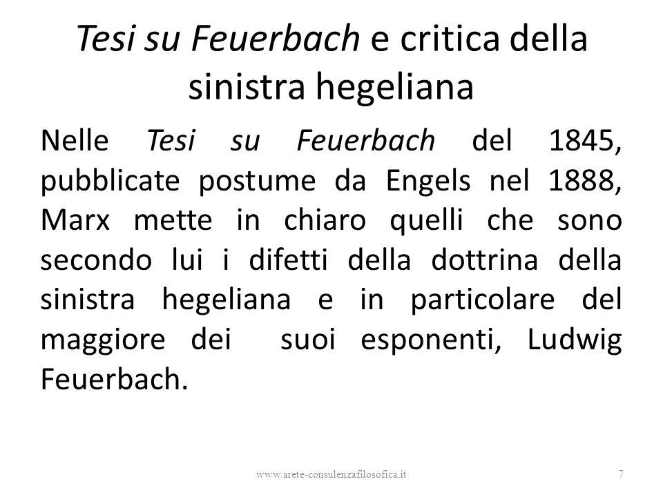 Tesi su Feuerbach e critica della sinistra hegeliana
