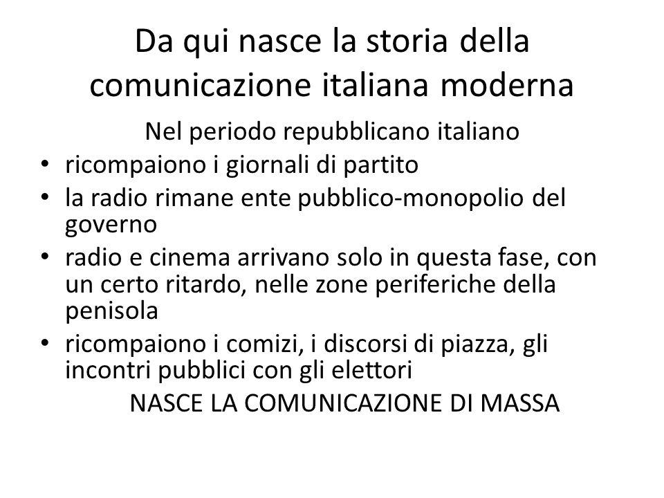 Da qui nasce la storia della comunicazione italiana moderna