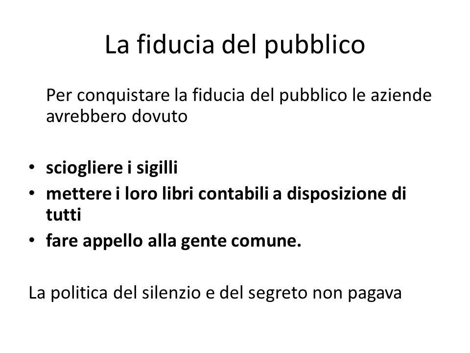 La fiducia del pubblico