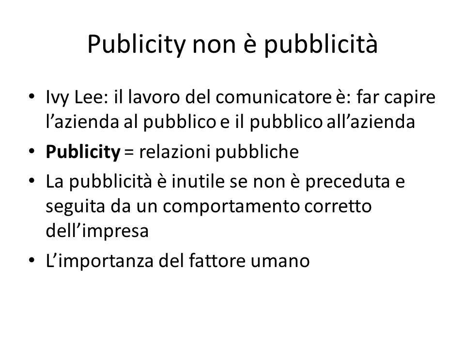 Publicity non è pubblicità