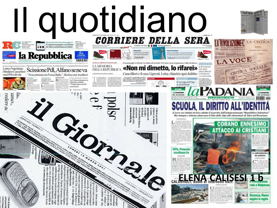 Il quotidiano ELENA CALISESI 1 b