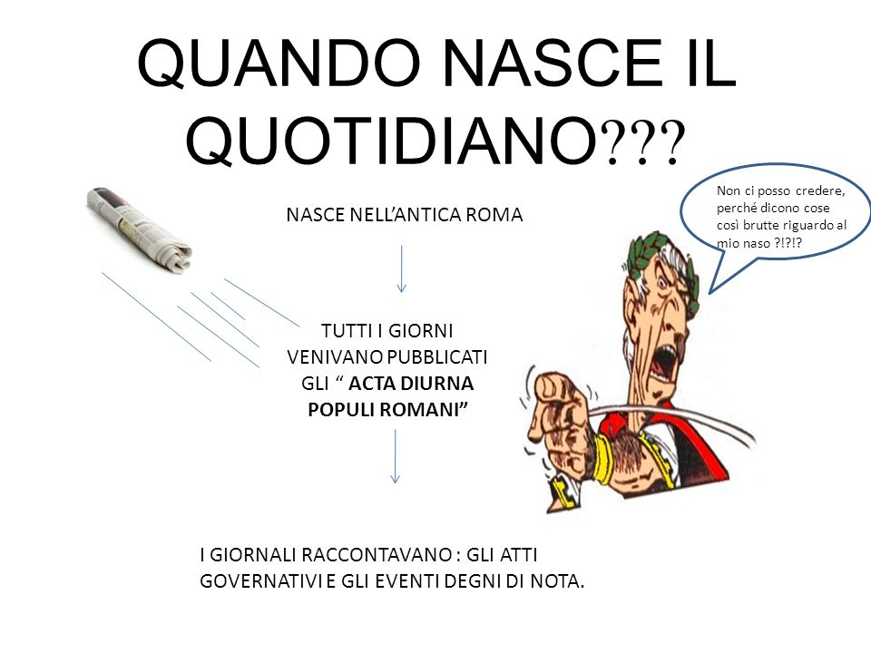 QUANDO NASCE IL QUOTIDIANO