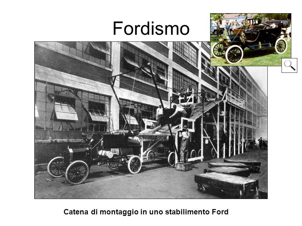 Fordismo Catena di montaggio in uno stabilimento Ford