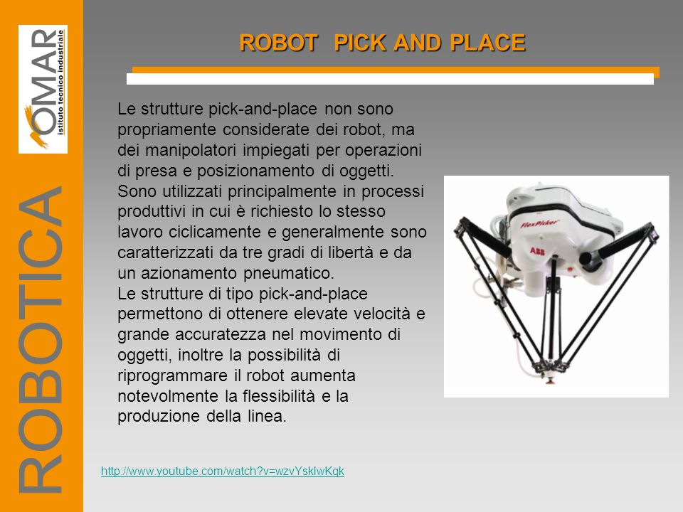 ROBOTICA ROBOT PICK AND PLACE
