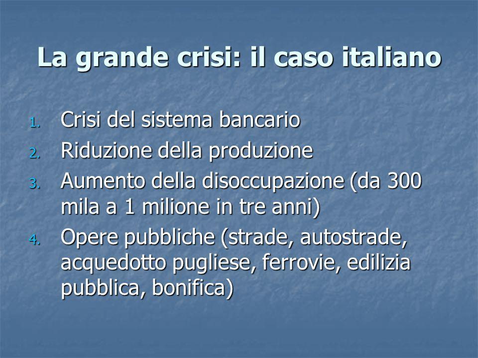 La grande crisi: il caso italiano