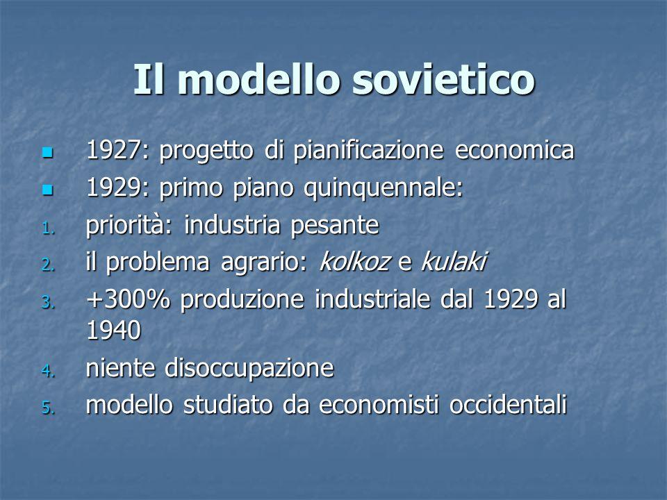Il modello sovietico 1927: progetto di pianificazione economica