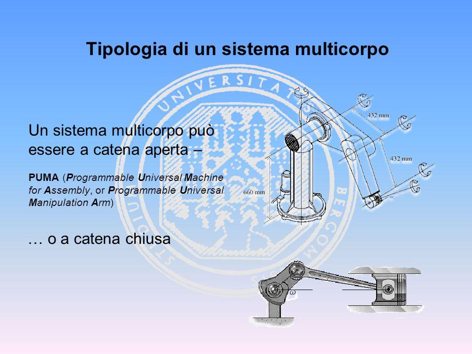 Tipologia di un sistema multicorpo