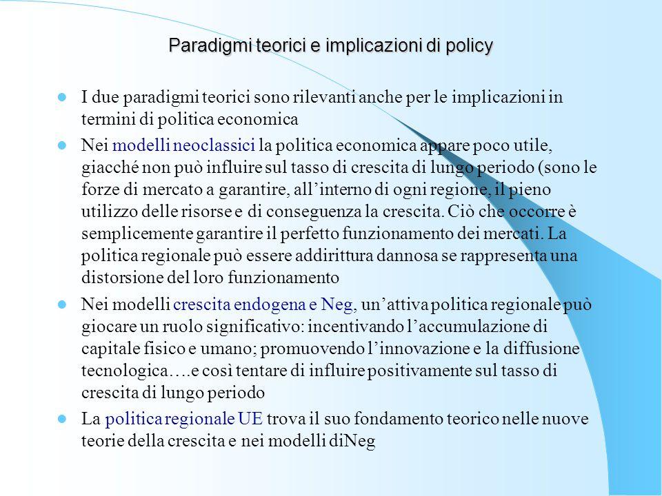 Paradigmi teorici e implicazioni di policy
