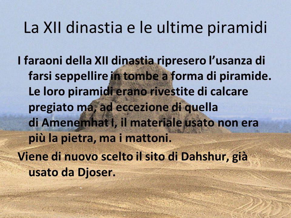 La XII dinastia e le ultime piramidi