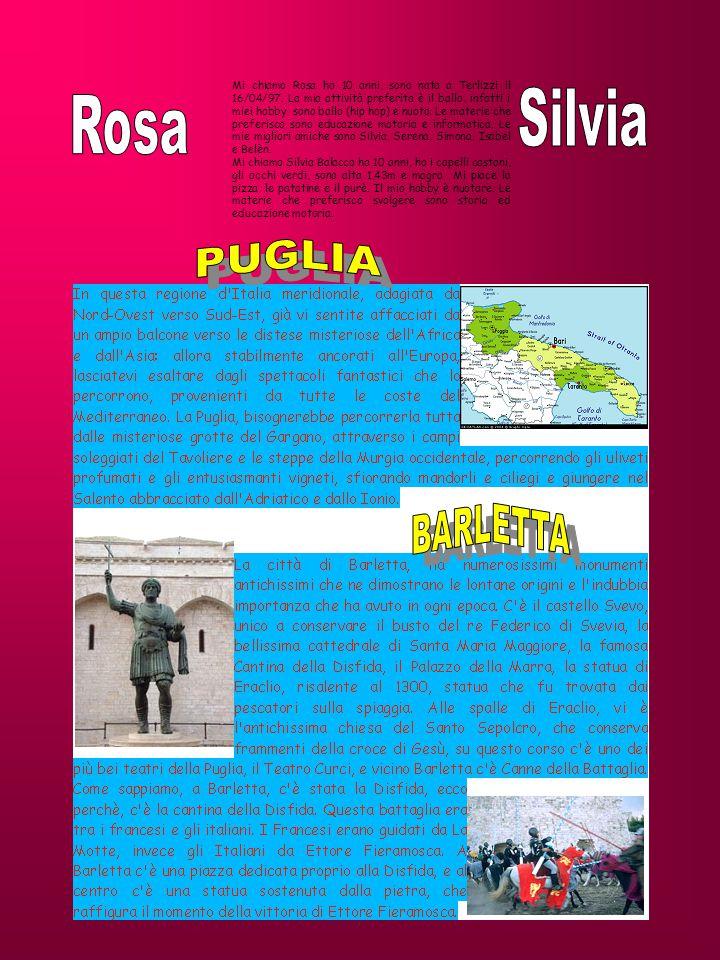 Mi chiamo Rosa ho 10 anni, sono nata a Terlizzi il 16/04/97