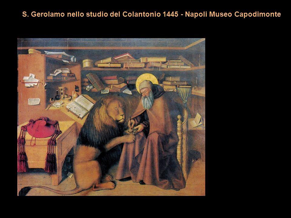 S. Gerolamo nello studio del Colantonio 1445 - Napoli Museo Capodimonte