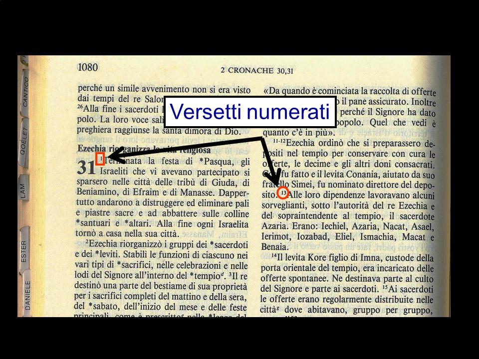 Versetti numerati