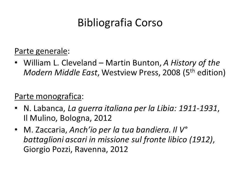 Bibliografia Corso Parte generale: